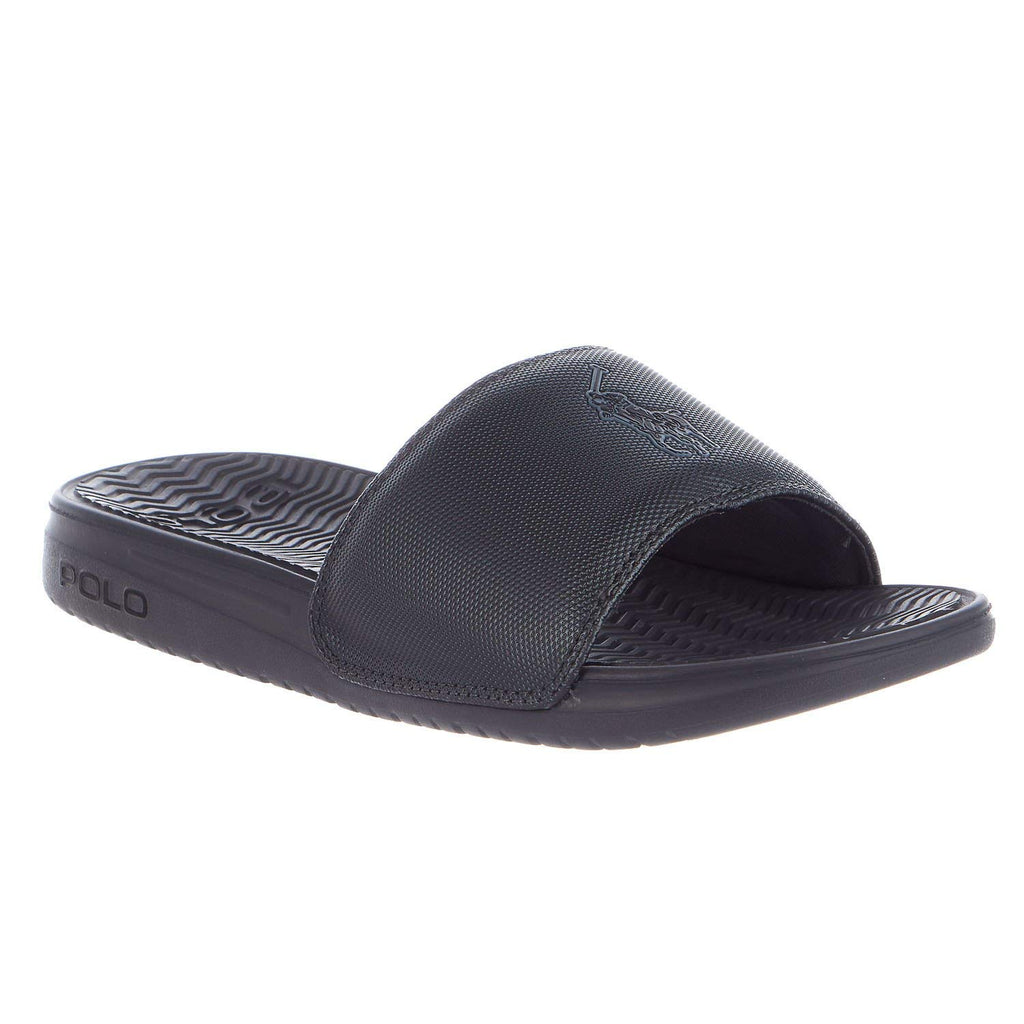 91a13edf9d2f Home » Shoes » Polo Ralph Lauren Men s Rodwell Pony Slides Sandals-Grey.  Grey ...