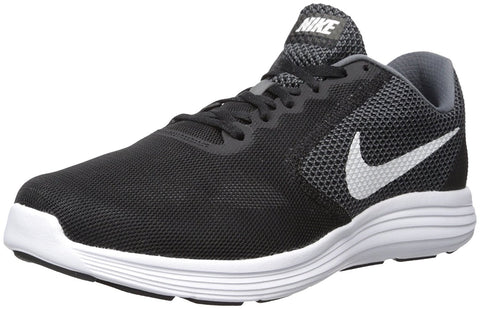 NIKE Men's Revolution 3 Running Shoe-Dark Grey/White