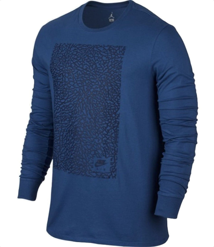 Jordan Men's Nike AJ 3 Long Sleeve Ele T-Shirt-Navy