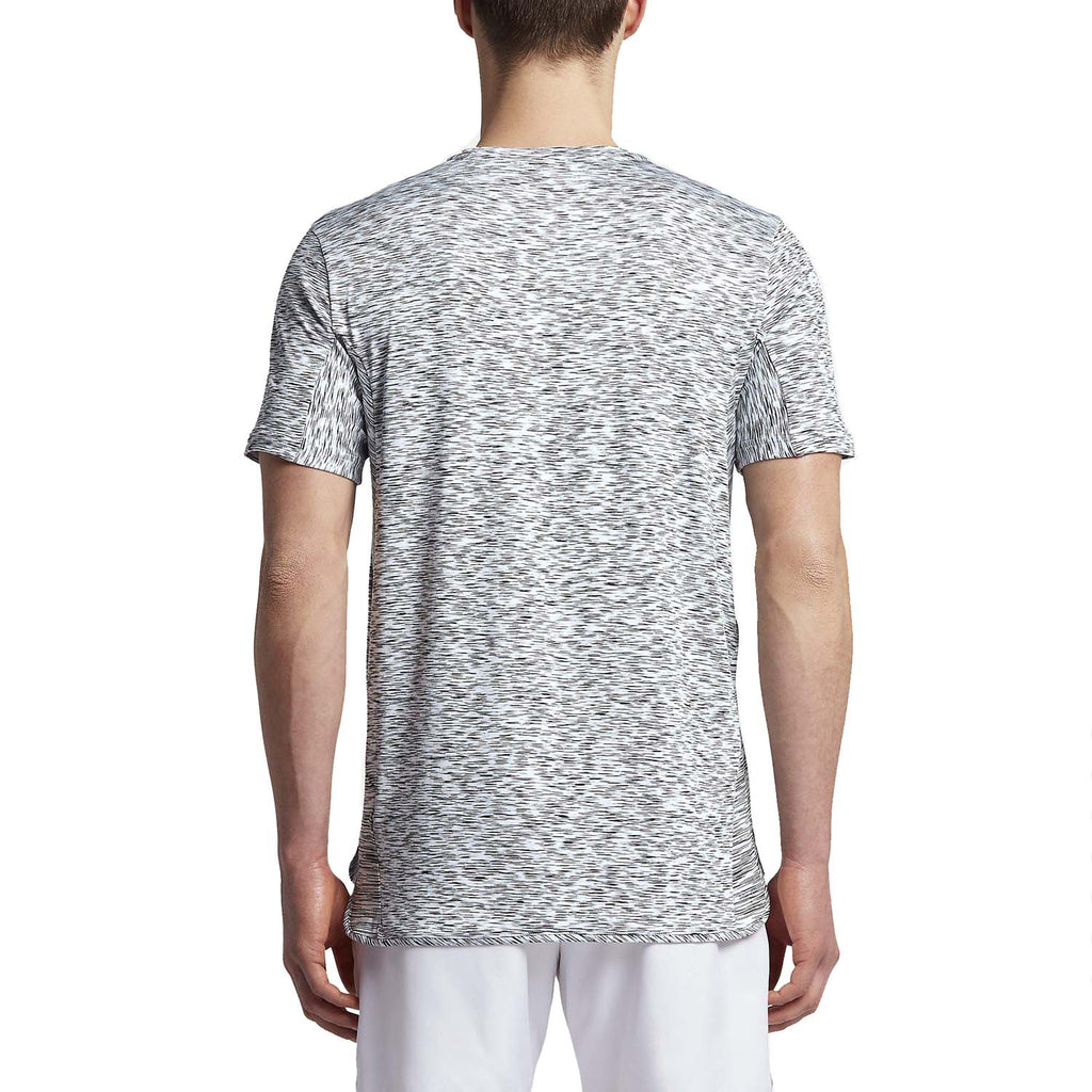 Nike Men's Dri-Fit Challenger Slim Fit Tennis Shirt-White/Black
