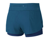 Nike Women's Dri-Fit Flex 2 In 1 Running Shorts-Industrial Blue