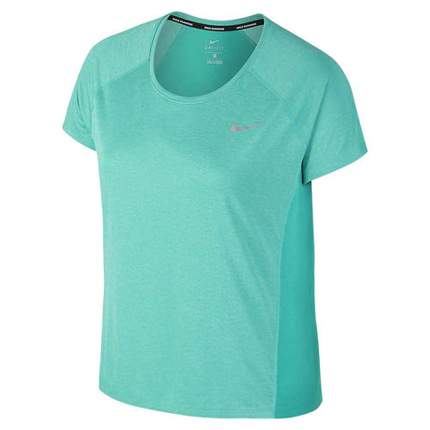 Nike Women's Plus Dri-Fit Miler Running Top-Turbo Green