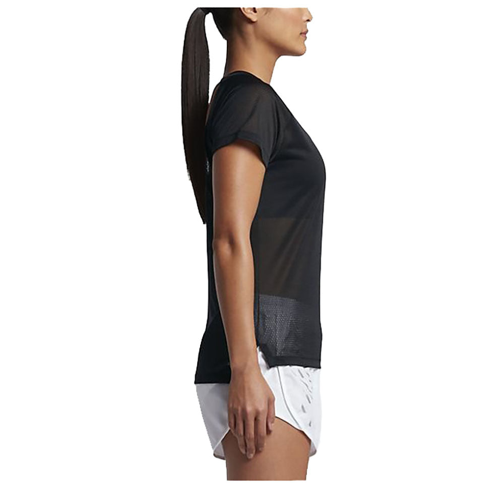 Nike Women's Dri-Fit Breathe Running Top-Black