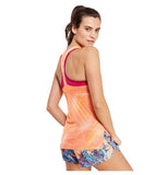 Nike Women's Breathe Printed Tank Top-Sunset Glow