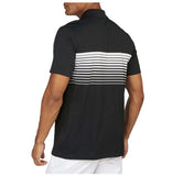 Nike Men's Mobility Speed Stripe Golf Polo-Black/White