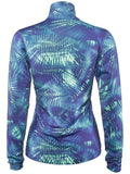 Nike Women's Dri-Fit Long Sleeve 1/2 Zip Training Top-Blue/Mint Green