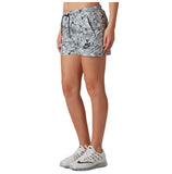 Nike Women's Allover Print Floral Casual Shorts-Gry/Blk/Wht