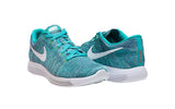 Nike Women's Lunarepic Low Flyknit Running Shoes-Clear Jade/White