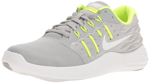 Nike Women's Lunarstelos Running Shoes-Wolf Grey/Volt