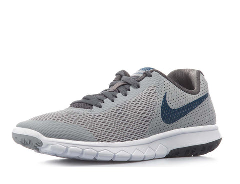 Nike Boy's Flex Experience 5 (GS) Running Shoes-Wolf Grey/Gym Blue