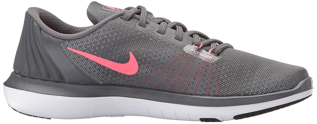 Nike Women's Flex Supreme TR 5 Cross Training Shoes-Dark Grey/Hot Punch
