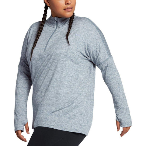 Nike Women's Plus Element Dri-Fit Running Top-Armory Blue/Heather