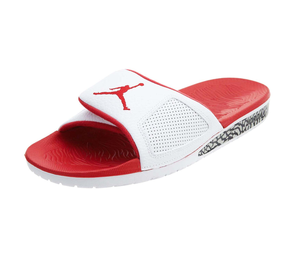 e2eed6d46 ... Jordan Men s Nike Hydro III Retro Slide Sandal-White Fire Red. White Fire  Red ...