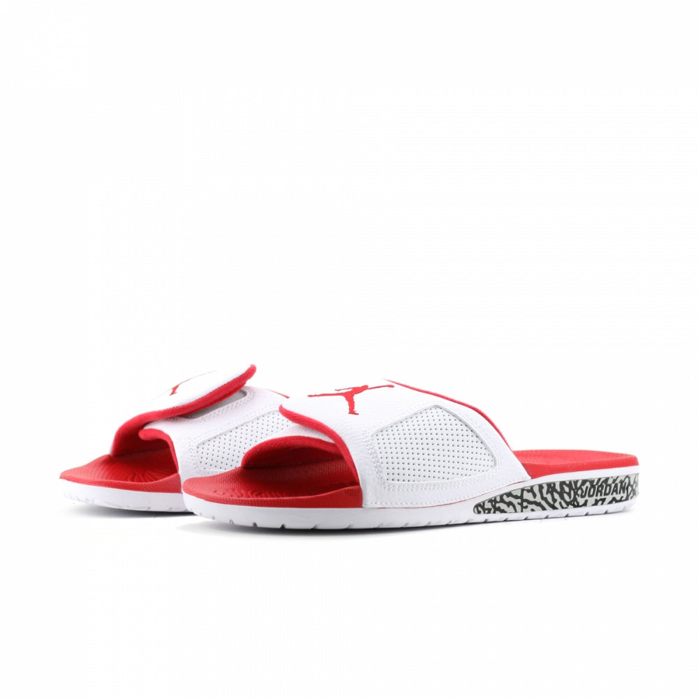 Jordan Men's Nike Hydro III Retro Slide Sandal-White/Fire Red