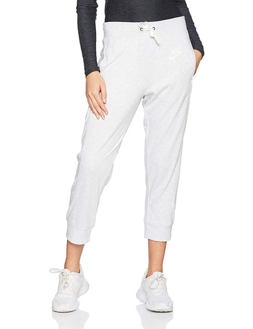 Nike Women's Gym Classic Sport Casual Capri Pants-Heather Grey