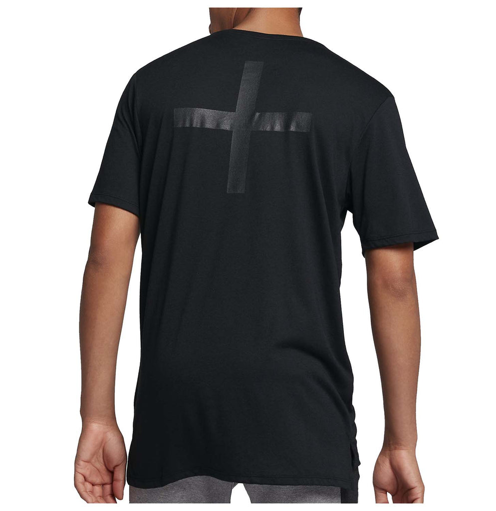 Nike Men's Drop Tail Bonded Tri-Blend Sport Casual T-Shirt-Black