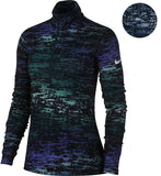 Nike Women's Pro Warm LS Ink Stripe Training Top