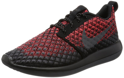 Nike Men's Roshe Two Flyknit 365 Running Shoes-Bright Crimson/Dark Grey-Black
