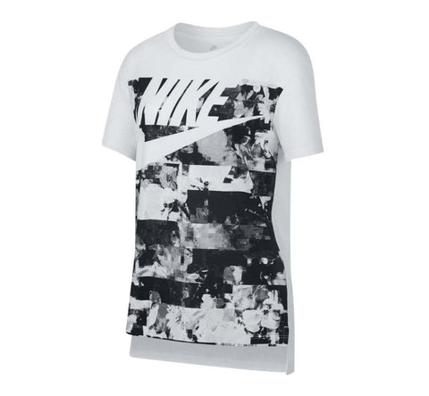 Nike Big Girls' (7-16) Hilo Hyperfade Sport Casual T-Shirt-White