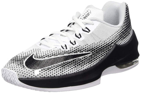 Nike Boy's Air Max Infuriate Basketball Shoes-White/Black/Wolf Grey