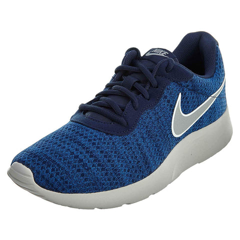 Nike Men's Tanjun Premium Running Shoes-Midnight Navy/Metallic Silver