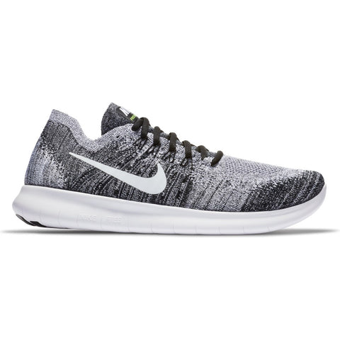 Nike Men's Free RN Flyknit 2017 Running Shoes-Black/White