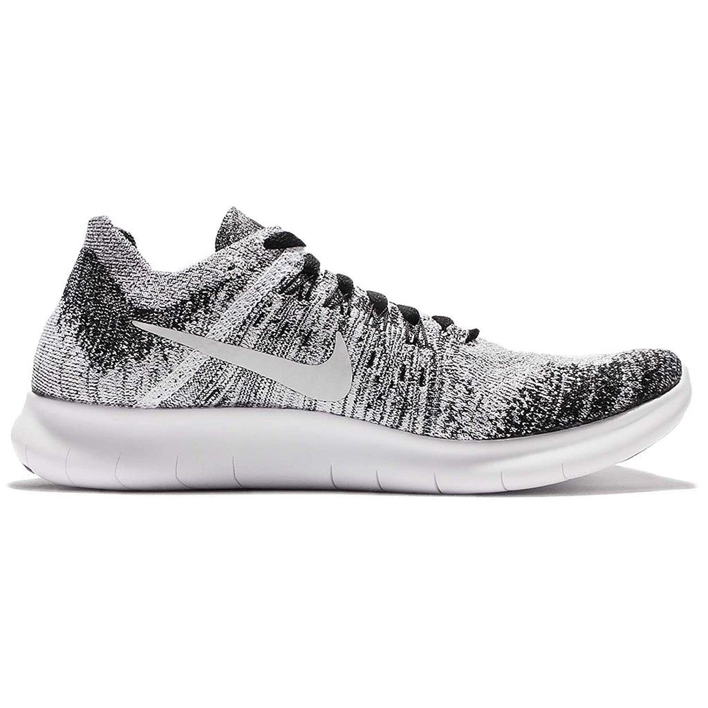 Nike Youth Free RN Flyknit 2017(GS) Running Shoes-Black/White