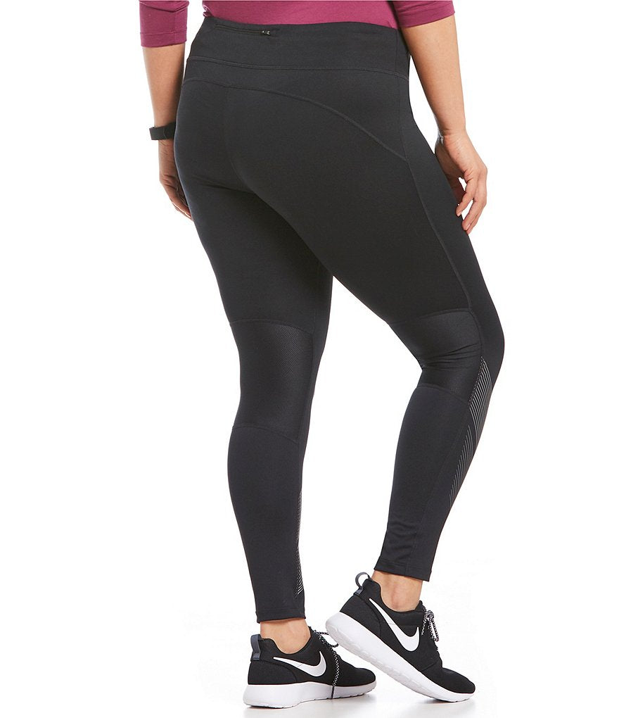 Nike Women's Plus Power Flash Racer Tights-Black