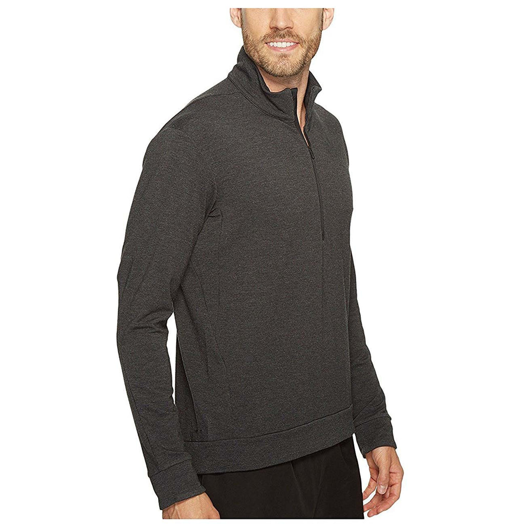 Nike Men's Dri-Fit 1/4 Zip Long Sleeve Training Top-Dark Grey