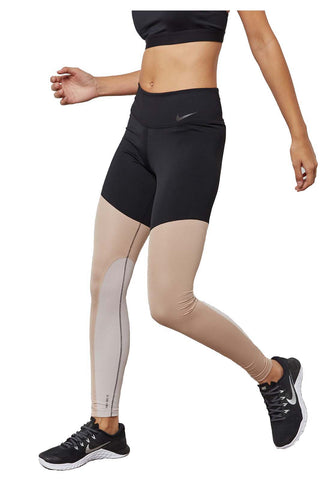 Nike Women's Power Pocket Lux Training Tights-Black/Sand Moon