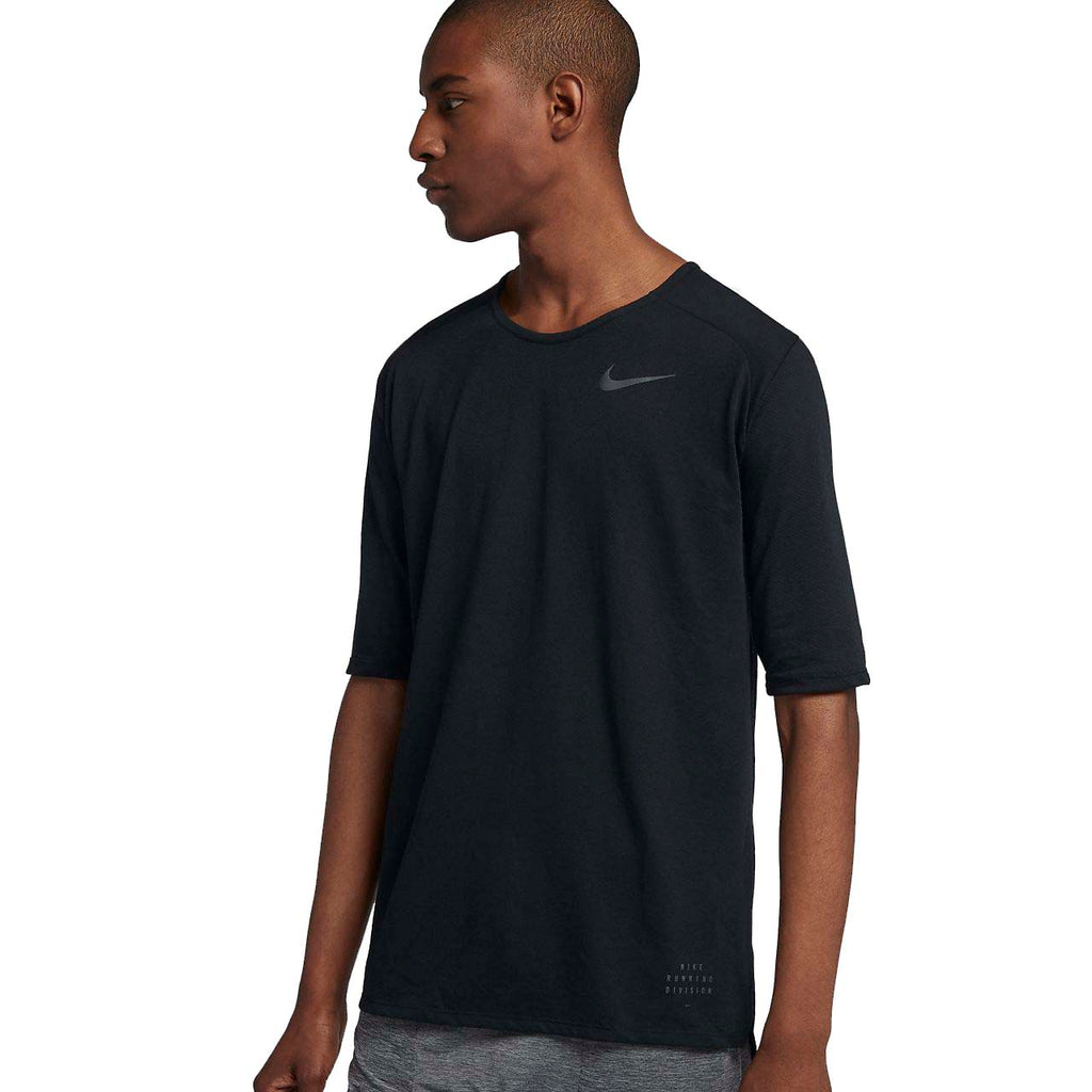 4366a34b6 ... Nike Men's Running Division Rise 365 Dri-Fit Top-Black. Black ...