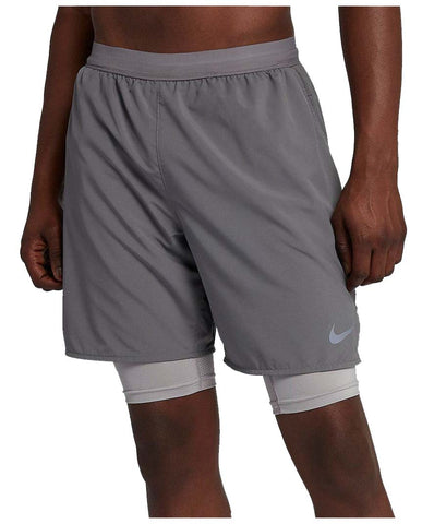 "Nike Men""s Flex Stride 2 In 1 Running Short-Gunsmoke"