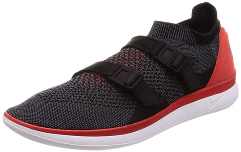 Nike Men's Air Sockracer Flyknit Running Shoes-Flyknit Red/Dark Grey