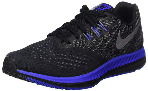 Nike Men's Zoom Winflo 4 Running Shoes-Black/Metallic Silver