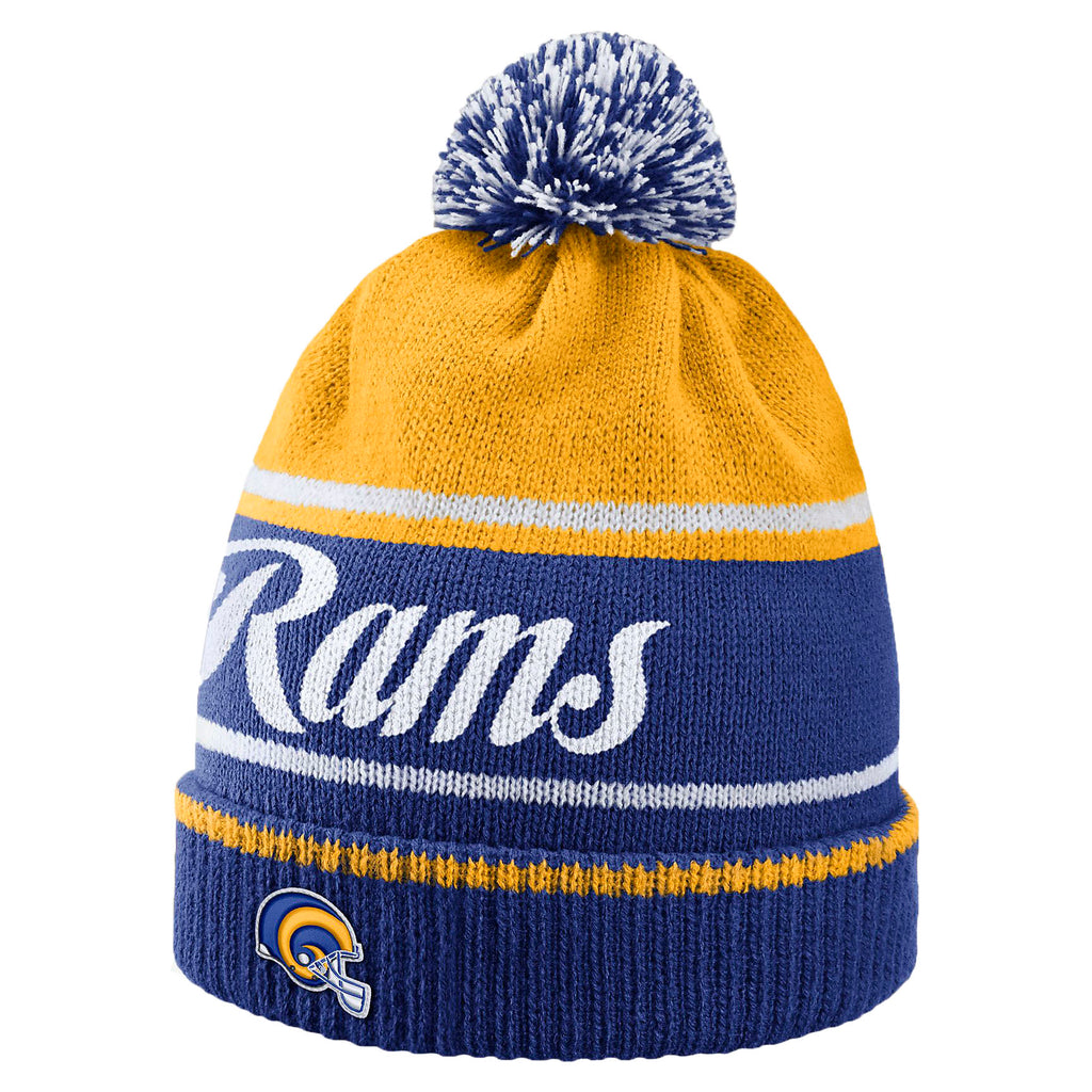 10fe89346d5 Nike Unisex Historic NFL Rams Knit Beanie Hat-Old Royal University Gold
