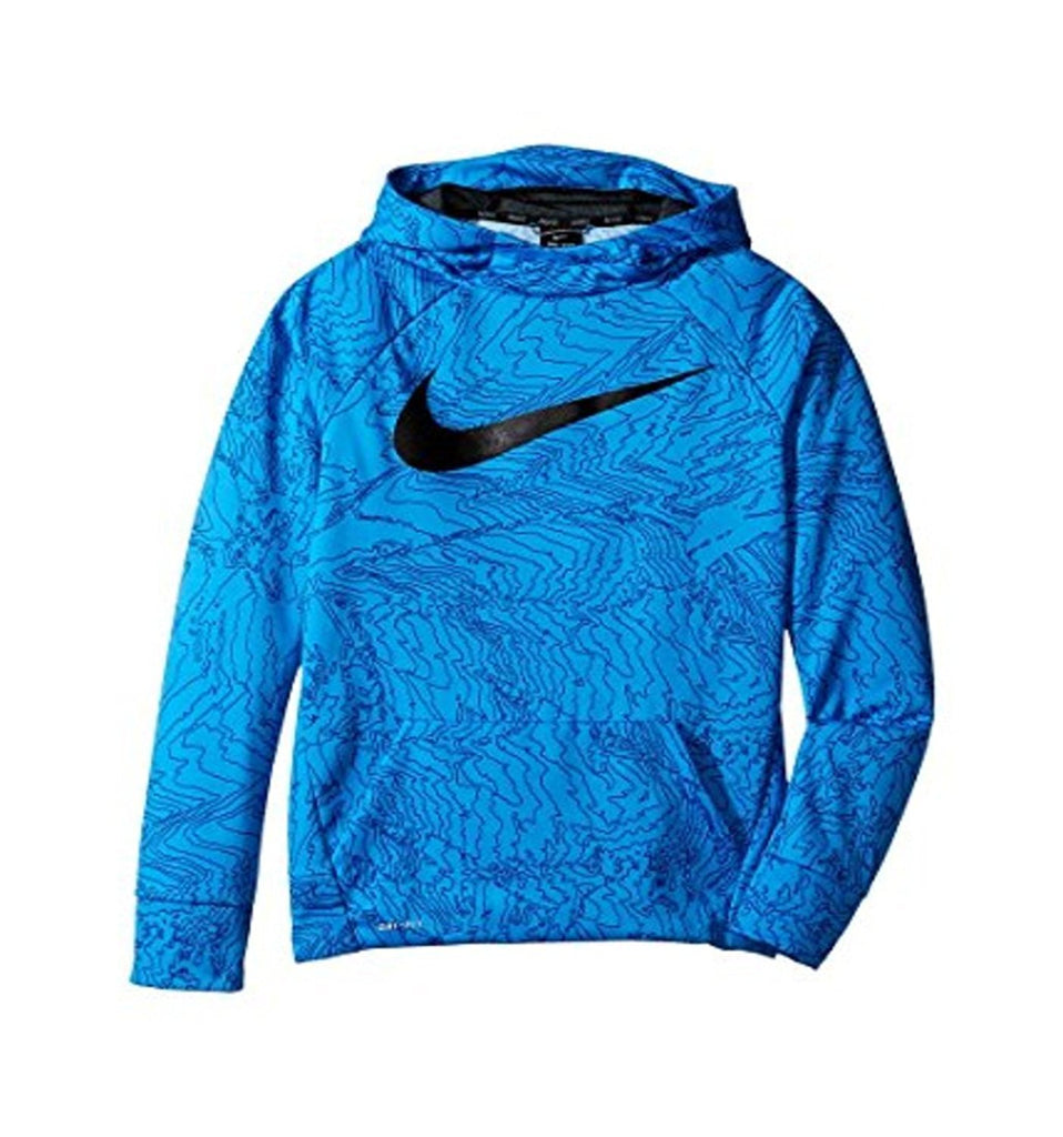 Nike Big Boys' (8 20) Therma Allover Print Pullover Hoodie