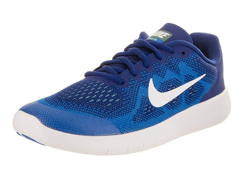 Nike Boy's Free Rn 2017 Running Shoes-Deep Royal Blue/White