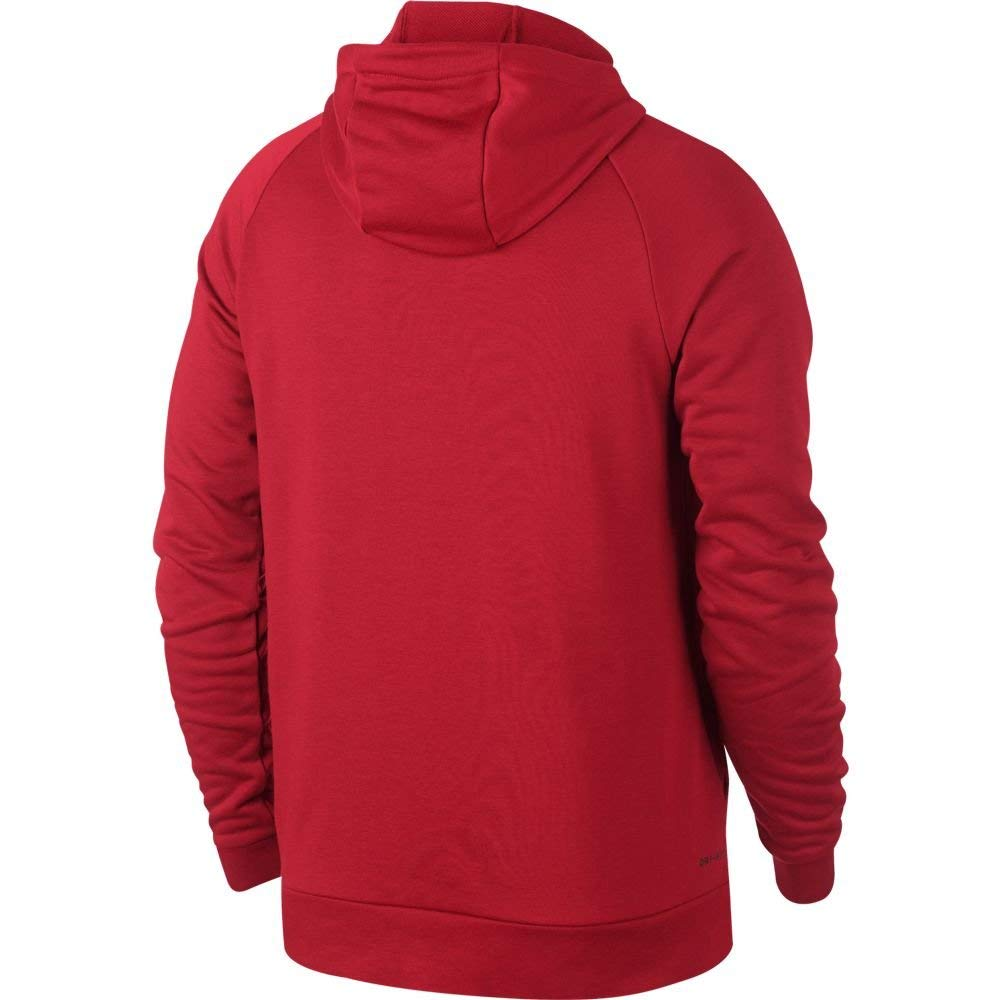 Nike Men's Dri-Fit Linear Logo Hoodie-University Red