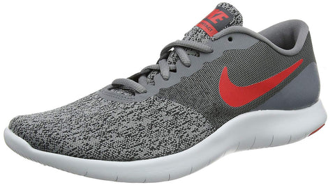 Nike Men's Flex Contact Running Shoes-Cool Grey/University Red
