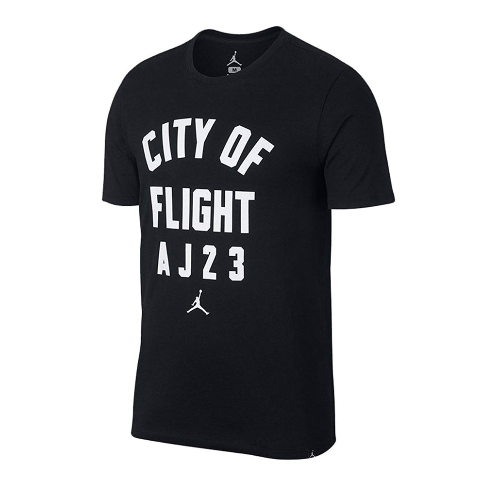 0af2021f3f0 ... Jordan Men's City Of Flight Jumpman Zip Code T-Shirt-Black. Black ...