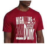 Jordan Men's Nike High Flying Basketball Tee-Gym Red