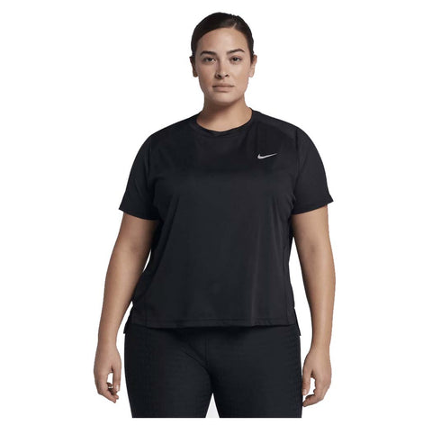 Nike Women's Plus Miler Running Top-Black