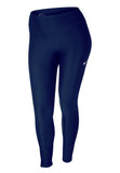 Nike Women's Plus Mid Rise Tight Training Pants-Navy
