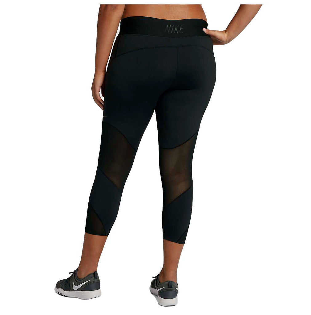 Nike Women's Plus Tilted-Rise Training Crop Tights-Black