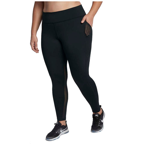 Nike Women's Plus Power Pocket Lux Training Tights-Black