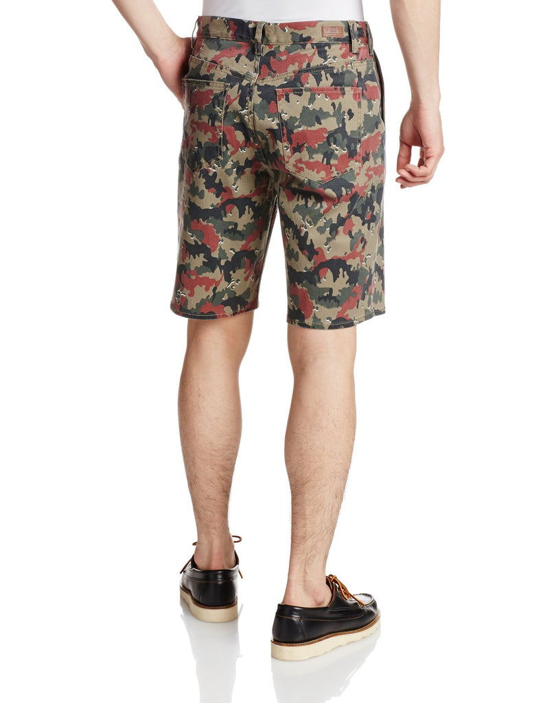 DC Shoes Men's DC Worker Camo Straight Shorts-Olive/Red Camo