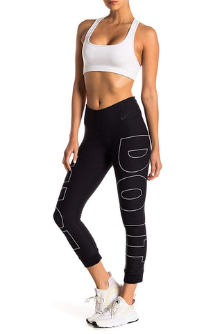 Nike Women's Power Legend Just Do it Crop Training Tights-Black
