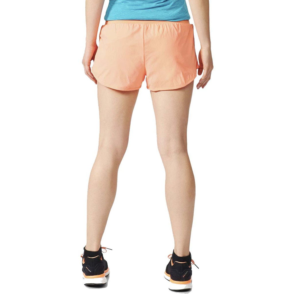 Adidas Women's Performance Run Reversible Shorts-Sunglow