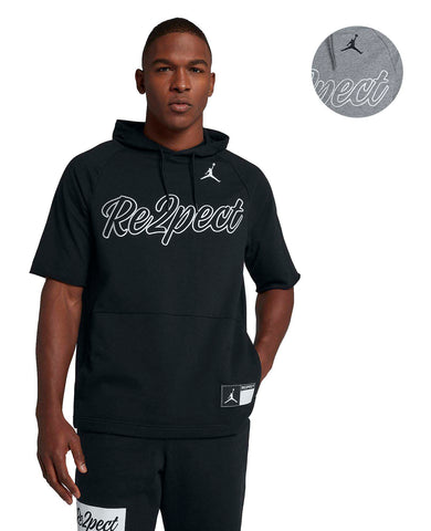 Jordan Men's Nike Re2pect Short Sleeve Training Hoodie