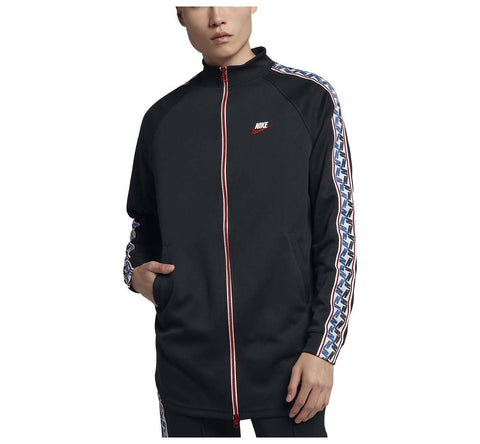Nike Men's Sport Casual Taped Track Jacket-Black